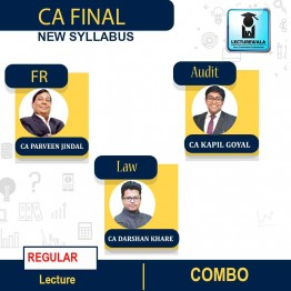 CA Final Law & FR and Audit  Regular Course Combo : Video Lecture + Study Material By CA Darshan Khare and CA Parveen Jindal & CA Kapil Goyal   (For May 2021 & Nov. 2021)