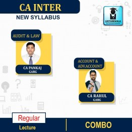 CA Inter Audit and LAW & Adv. Accounts & Accounts COMBO  New Syllabus Regular Course : Video Lecture + Study Material By CA PANKAJ GARG & RAHULGARG for  (may 2021 to nov.2021)