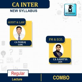 CA Inter Audit and LAW &  FM & ECO. COMBO  New Syllabus Regular Course : Video Lecture + Study Material By CA PANKAJ GARG & CA Aaditya Jain  for  (may 2021 to nov.2021)