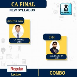 CA FINAL  Audit and LAW(Aug.2020 Batch) &  SFM  COMBO  New Syllabus Regular Course : Video Lecture + Study Material By CA PANKAJ GARG & CA Aaditya Jain  for  (may 2021 to nov.2021)