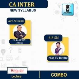 CA Inter EIS-SM & Adv. Accounts Regular Course Combo : Video Lecture + Study Material By Prof. Om Trivedi and CA Parveen Jindal (For Nov. 2021)