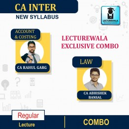 CA Inter Group-1 Accounts, Costing & Law Combo Regular Course: Video Lectures + Study Materials by CA Rahul Garg, CA Abhishek Bansal, (For Nov. 2021 & May 22)
