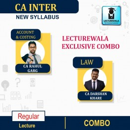 CA Inter Group-1 Accounts, Costing & Law Combo Regular Course: Video Lectures + Study Materials by CA Rahul Garg, CA Darshan Khare (For Nov. 2021 & May 22)