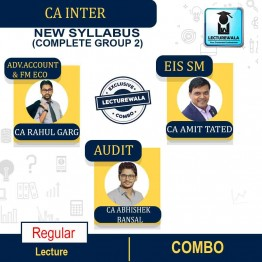 CA Inter Group-2 All Subject Combo Regular Course: Video Lectures + Study Materials by CA Rahul Garg, CA Abhishek Bansal, CA Amit Tated (For Nov. 21 & May 22)
