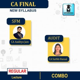 CA Final SFM and AUDIT Combo Regular Course New Syllabus : Video Lecture + Study Material By CA Aaditya Jain and CA Surbhi Bansal (For May 2021 to Nov. 2021)