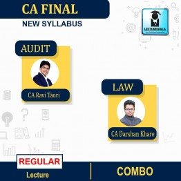CA Final Audit and Law New Syllabus Regular Course : Video Lecture + Study Material By CA Ravi Taori and CA Darshan Khare (For May 2021 TO NOV.2021)