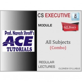 CS Executive All Subject Combo : Video Lecture + E-Book By Ace Tutorial (For Dec. 2021)