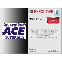 CS Executive Module 2nd Combo : Video Lecture + E-Book By Ace Tutorial (For Dec. 2021)