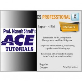 CS Professional (Paper 4,5,6) Combo Regular Course : Only Video Lectures By Ace Tutorial (For Dec. 2021)