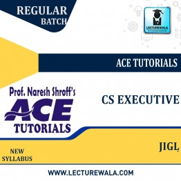 CS Executive Jurisprudence, Interpretation & General Law : Video Lecture + E-Book By Ace Tutorial (For Dec. 2021 )