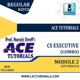 CS Executive Module 2 All Subjects Combo : Video Lecture + E-Book By Ace Tutorial (For Dec. 2021)