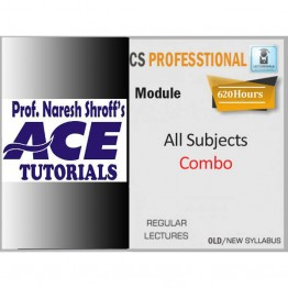 CS Professional All Subjects (Paper 1 to 8 and with 9.8) Combo Regular Course : Only Video Lectures By Ace Tutorial (For Dec. 2021)