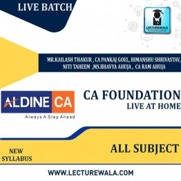 CA FOUNDATION Live At Home Course : Video Lecture + Study Material By  ALDLINE  (For May 2021)