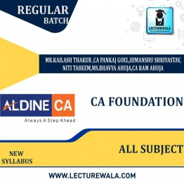 CA Foundation Recorded Classes On Android : Video Lecture + Study Material By  ALDINE (For Nov 2021 & May 2022)