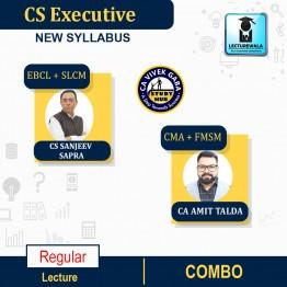 CS Executive Combo (EBCL + SLCM + CMA + FMSM) Regular Course : Video Lecture + Study Material By CS Sanjeev Sapra & CA Amit Talda (For Dec. 2021 / June 2022)