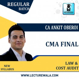 CMA Final Law & Cost Audit (Combo Pack) Regular Course : Video Lecture + Study Material By CA Ankit Oberoi (For Dec. 2021)