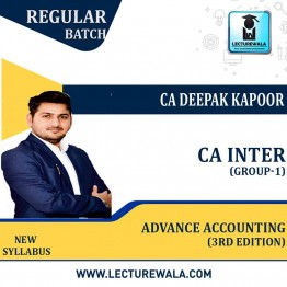 CA Inter Group-2 Advance Accounting (3rd Edition) : Study Material By CA Deepak Kapoor (For Nov.2021/ May 2022)