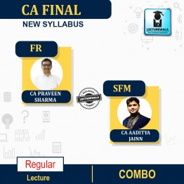 CA Final SFM & FR Regular Course Combo New Syllabus : Video Lecture + Study Material By CA Aaditya Jain & CA Parveen Sharma (For Nov. 2021 & May 2022 & Nov. 2022)