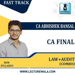 CA Final Audit & Law Fastrack Combo Live Batch : By CA Abhishek Bansal  (For Nov. 2021)
