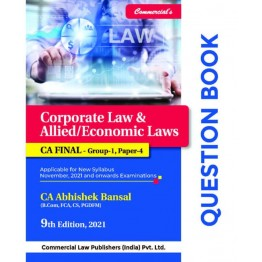 CA Final Law  Question Book : Study Material By CA Abhishek Bansal  (For Nov. 2021 and Onwards)