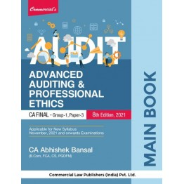 CA Final Audit Main Book : Study Material By CA Abhishek Bansal  (For Nov. 2021 and Onwards)