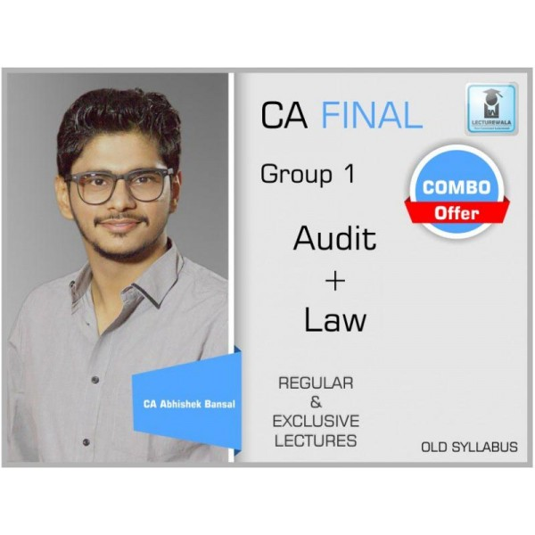 CA Final Audit & Laws Combo Old Syllabus : Video Lecture + Study Material (For May & Nov. 2019)