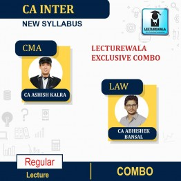 CA Inter Cost and Management Accounting + Law Combo Regular Course : Video Lecture + Study Material by  CA Abhishek Bansal & CA Ashish Kalra  (For Nov. 2021 & May 2022)