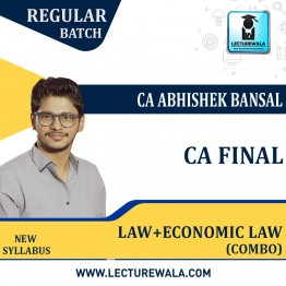 CA Final Combo Corporate & Economic Law + Economic Law (Paper - 6D) Regular Course : Video Lecture + Study Material By CA Abhishek Bansal  (For Nov.2021)