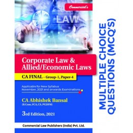 CA Final Law  MCQ Book : Study Material By CA Abhishek Bansal  (For Nov. 2021 and Onwards)