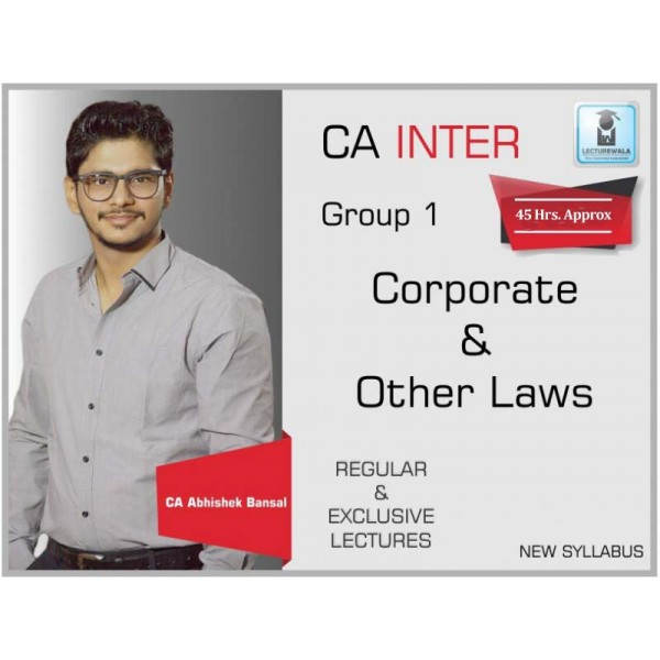 CA Inter Law : Video Lecture + Study Material by CA Abhishek Bansal (For May 2020)