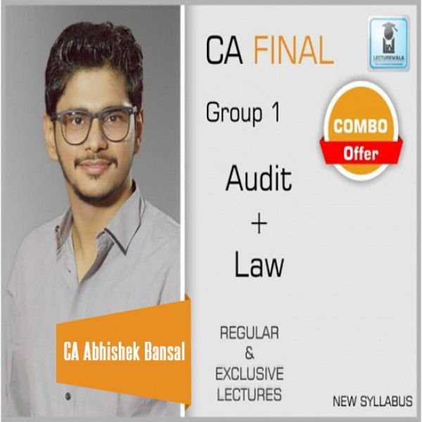 CA Final Audit And Law New Syllabus Combo : Video Lectures + Study Material By CA Abhishek Bansal  (Nov. 2019 & Onwards)