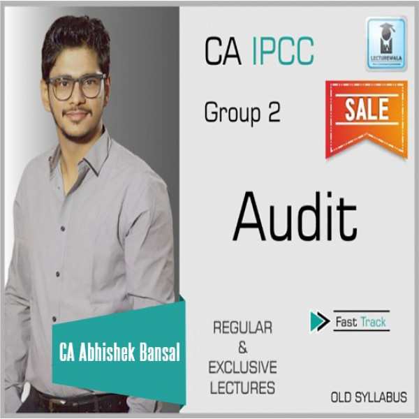 CA Ipcc Audit Regular Course : Video Lecture + Study Material By CA Abhishek Bansal (For May 2020)