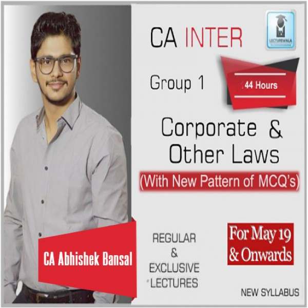 CA Inter Law : Video Lecture + Study Material by CA Abhishek Bansal (For Nov. 2019 & May 2020)