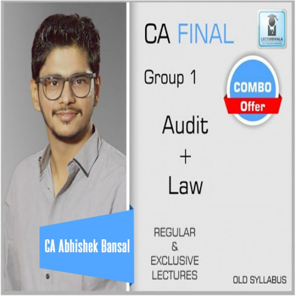CA Final Audit & Laws Old Syllabus Combo :  By CA Abhishek Bansal (For Nov. 2020)
