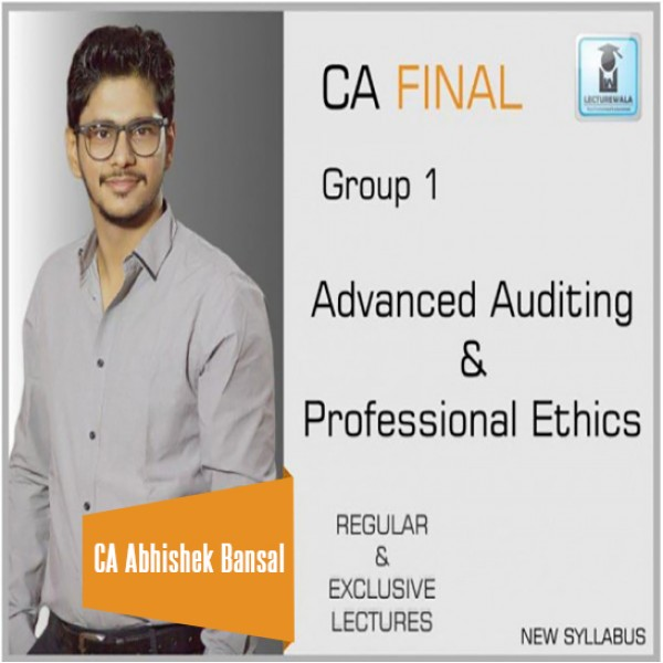 CA Final Audit New Syllabus Regular Course : Video Lecture + Study Material by CA Abhishek Bansal (For Nov. 2019 & onwards)