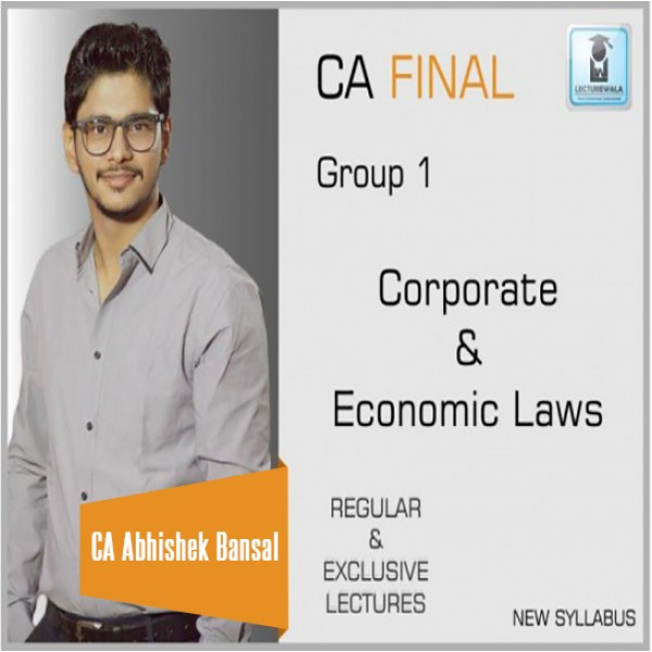 CA Final Corporate & Economic Laws New Syllabus Pre Book : Video Lecture + Study Material by CA Abhishek Bansal (For May 2020 & Nov. 2020)