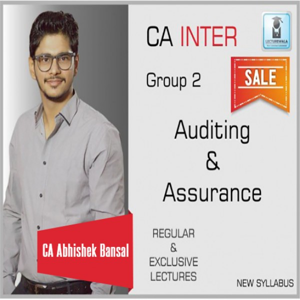 CA inter Auditing & Assurance (Pre Book) : Video Lecture + Study Material by CA Abhishek Bansal (For May 2020 & Nov. 2020)