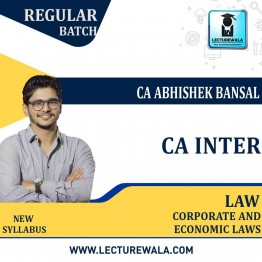 CA Inter Law Pre Booking  : Video Lecture + Study Material By CA Abhishek Bansal (For May.2021TO NOV. 2021)