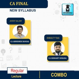 CA Final Direct Tax + International Tax & Audit And Law Combo  Regular Course : Video Lecture + Study Material By  CA Siddharth Surana & CA ABHISHEK BANSAL (For  NOV.2021)