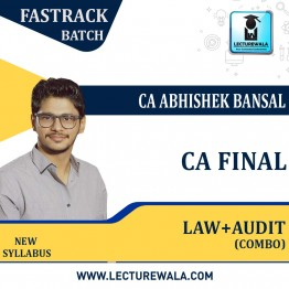 CA Final Audit & Law Fastrack Batch  Combo New Syllabus : By CA Abhishek Bansal  (For NOV 2021 & MAY 2022)