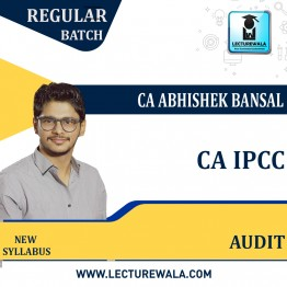 CA Ipcc Audit  : Regular Course Video Lecture + Study Material by CA Abhishek Bansal (For May.2021TO NOV. 2021)