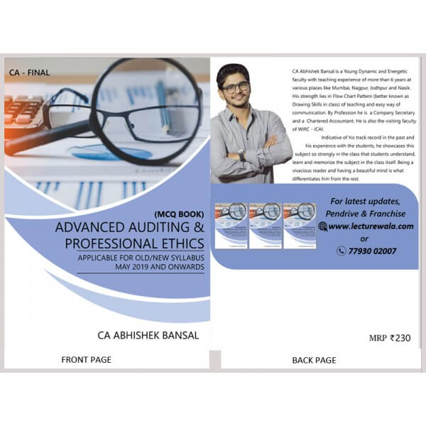 CA Final Advance Auditing & Professional Ethics : MCQ Book By CA Abhishek Bansal (For May & Nov. 2019)