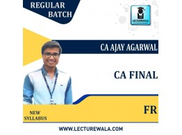CA Final Financial Reporting New Regular Course : Video Lecture + Study Material By  CA Ajay Agarwal (For DEC 2021)