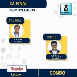 CA Final FR &  SFM And SCMPE Combo New Regular Course : Video Lecture + Study Material By  CA Ajay Agarwal And CA Atul Agarwal (For May 2021 Onwards)