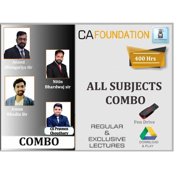 CA Foundation All Subject Combo : Video Lecture + Study Material (For May 2020 & Nov 2020)