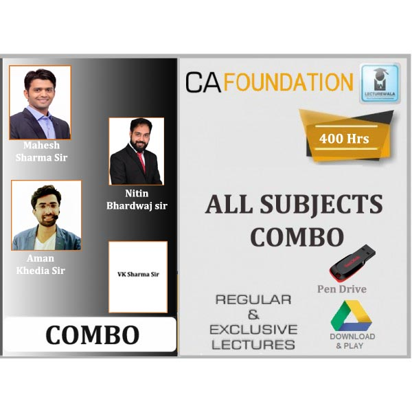 CA Foundation All Subject Combo : Video Lecture + Study Material (For Nov. 2019 & Onwards)