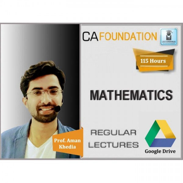 CA Foundation Mathes Regular Course : Video Lecture + Study Material By Prof. Aman Khedia (For May 2020 & Nov. 2020)