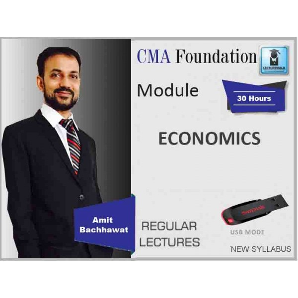 CMA Foundation Economics : Video Lecture + Study Material By Kundu (For May & June 2019)