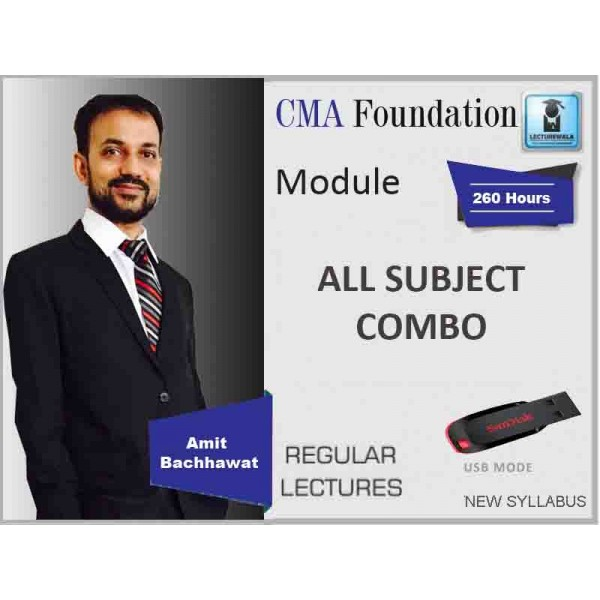 CMA Foundation All Subject Combo : Video Lecture + Study Material By CA Amit Bachhawat (For June & Dec. 2019)