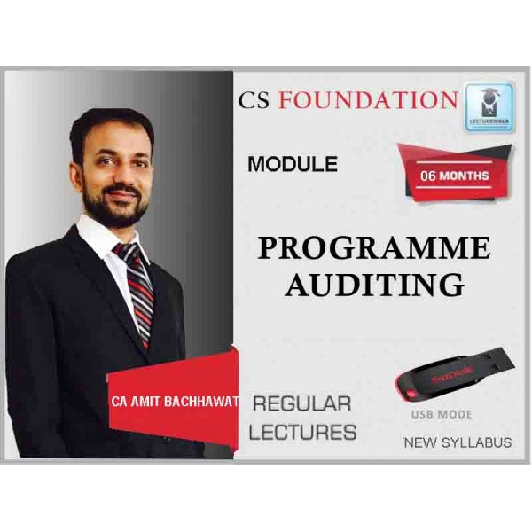 CS Foundation Programme, Auditing New Syllabus : Video Lecture + Study Material By CA Amit Bachhawat (For June & Dec. 2019)